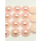 8mm Parelflower - 10 stuks - Licht Rose