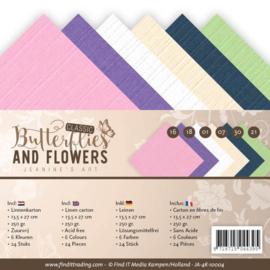 JA4K10004 Karton 13.5 x 27cm - Classic Butterflies and Flowers - Jenine's Art