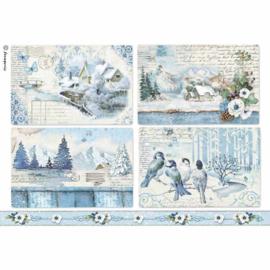 DFSA4339 Rice Paper A4 - Stamperia