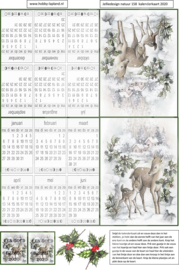 JDN158 Vintage vel A4 Natuur Kalender - Jellie Design