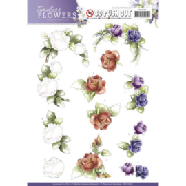 SB10258 Stansvel A4 - Timeless Flowers - Marieke Design