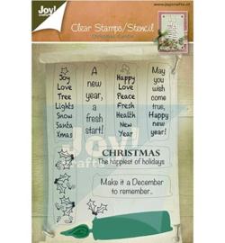 6004-0002 Stempel en mal - Christmas Candle - Joy Crafts