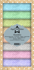 PFS011 Dixi Slimline PaperPack 10x21 cm Pasteldots