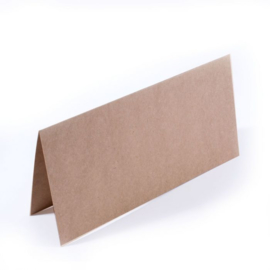 Dubbele kaarten 200g 11x22cm 25pcs kraft - Florence