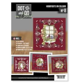 DODOOC10008 Dot en Do on Colour set 8 Kerst
