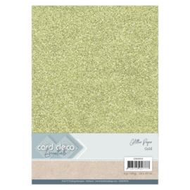 CDEGP010 Glitterkarton A4 250gr - Gold  - 6 stuks - Card Deco