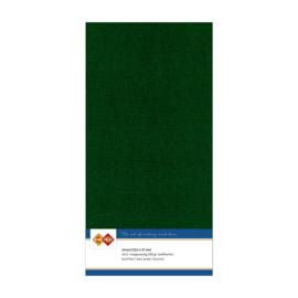23 Kerstgroen - Linnen Kaarten 4 kant 13.5x27cm - 10 stuks - 200 grams - Card Deco