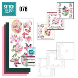 Stitch and Do nr. 76 - Bloemen en Vlinders