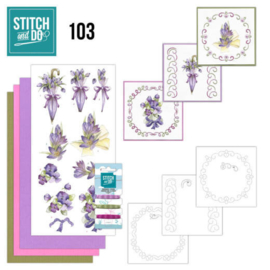 Stitch and Do nr. 103 - Paarse bloemen