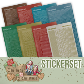 Stickerset bij Creative Hobbydots 10019 - The Heart of Christmas - Yvonne Creations