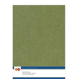 41 Mos Groen - Linnen Karton A4 - 10 stuks - 200 grams - Card Deco