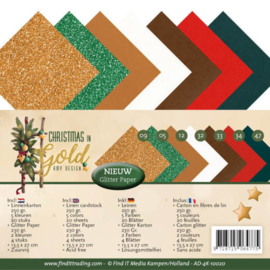 AD4K10020 Karton 27 x 13,5 - Christmas Gold - Amy Design