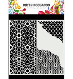 470.784.004 - Mask Art Slimline Cracked Patterns - Dutch Doobadoo