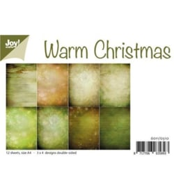6011/0510 Paperbloc A4 a 12 vel - Warm Christmas - Joy Crafts