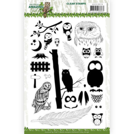 ADCS10070 Clearstempel - Amazing Owls - Amy Design