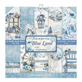 Paperpad 30.5 x 30.5 cm Blue Land - Stamperia