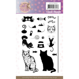 ADCS10064 Clearstempel - Cats World- Amy Design