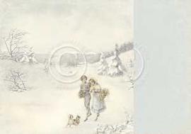 PD5102 Scrappapier Dubbelzijdig - Days of Winter - Pion Design