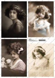 GH3354 Vintage vel - Vintage (4 plaatjes) - Gerda's Hobbyshop