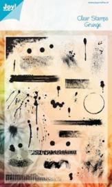 6410-0093 Clearstempel - Grunge - Joy Crafts