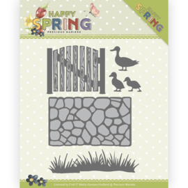 PM10149 Snij- en embosmal - Happy Spring - Marieke Design