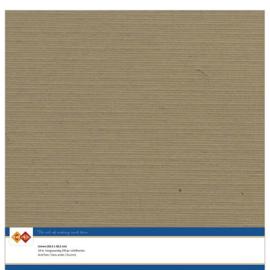 44 Kraft Mokka - Linnen Karton 30,5 x 30,5cm - 10 stuks - 200 grams - Card Deco - PAKKETPOST!!