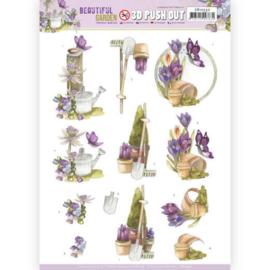 SB10532 Stansvel 3D vel A4 - Beautiful Garden - Marieke Design