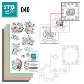 Stitch en Do nr. 40 - Bloemen / Condoleance