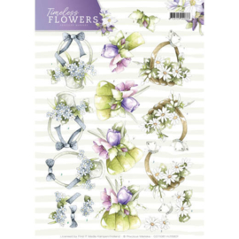 CD11081 Knipvel A4 - Timeless Flowers - Marieke Design