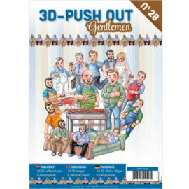 3D Push Out nr. 28 Gentlemen