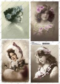 GH3358 Vintage vel - Vintage (4 plaatjes) - Gerda's Hobbyshop