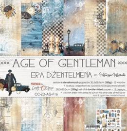 Age of Gentleman - Paperpad 30,5 x 30,5 cm - Craft O Clock - PAKKETPOST!!