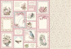 PD32009 Scrappapier Dubbelzijdig - Cherry Blossom Lane - Pion Design
