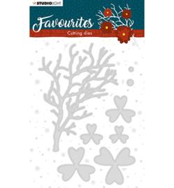 STENCILSL334  Snij- en embosmal - Winter's Favourites - Studio Light
