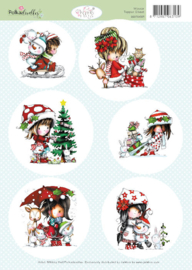99070/005 A4 vel Winnie Kerst - Polka Doodles