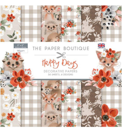 PB1215 Paperpad 20.5 x 20.5 cm Happy Days - The Paper Boutique