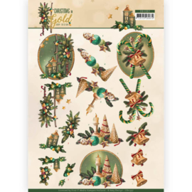 CD11357 Knipvel A4 - Christmas Gold - Amy Design