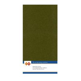 55 Pine Green - Linnen Kaarten 4 kant 13.5x27cm - 10 stuks - 200 grams - Card Deco