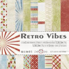 Paperpad 15,2 x 15,2 cm - Retro Vibes - Craft-O-Clock