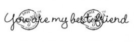 nr. 502 You are my best Friend - Butterfly Dreams Collection 2011 - Magnolia stempel