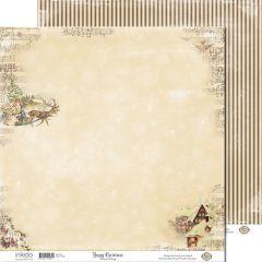 SM12483 Scrappapier dubbelzijdig - Winter Village  - Inkido