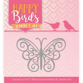 JADD10096 Snij- en embosmal - Happy Birds - Jeanine's Art