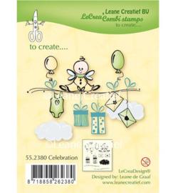 55.2380 Clearstempel Celebration - Leane