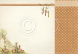 PD9602 Scrappapier dubbelzijdig - Summer Falls into Autumn - Pion Design