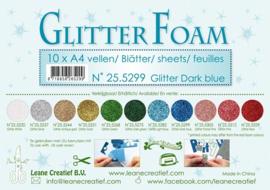 25.5299 Glitter foam sheets A4 Glitter Dark Blue - per vel