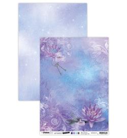 BASISJMA10 Achtergrondpapier A4 dubbelzijdig - Jenine's Mindful Art Time to Relax - Studio Light
