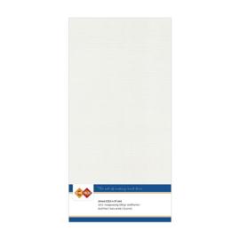 24 Licht Grijs - Linnen Kaarten 4 kant 13.5x27cm - 10 stuks - 200 grams - Card Deco
