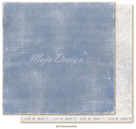 893 Scrappapier dubbelzijdig - Denim and Friends - Maja Design