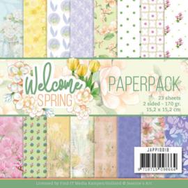 JAPP10018 Paperpad - Welcome Spring - Jeanine's Art