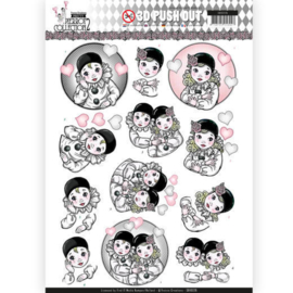 SB10326 Stansvel A4 - Pretty Pierrot 2 - Yvonne Creations